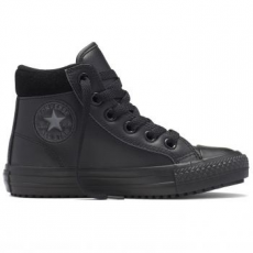 Converse Chuck Taylor All Star Boot Hi Leather gyerek tornacipő, Black/Thunder, 29 (654312C-001-12)