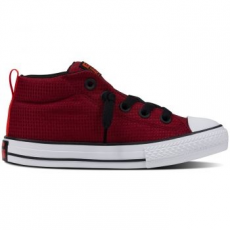 Converse Chuck Taylor All Star Street Mid gyerek tornacipő, Red Block/Black, 33 (654254C-607-1.5)