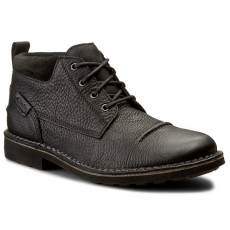 Clarks Bokacipő CLARKS - Lawes Top 261193157 Black Leather