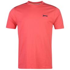 Slazenger Plain férfi kerek nyakú póló korall XL