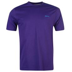 Slazenger Plain férfi kerek nyakú póló lila M
