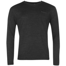Pierre Cardin V nyakú férfi kötött pulóver sötétszürke 3XL