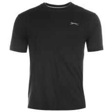 Slazenger Tipped férfi kerek nyakú pamut póló fekete 3XL