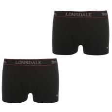 Lonsdale 2 darabos férfi boxeralsó fekete 3XL