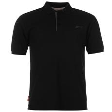 Slazenger Férfi galléros póló fekete 3XL