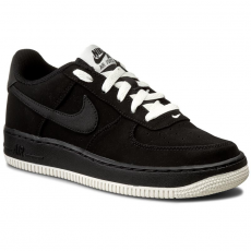 Nike Cipők NIKE - Air Force 1 (GS) 596728 027 Black/Black/Sail