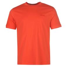 Slazenger Tipped férfi kerek nyakú pamut póló tűzpiros XXL