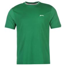 Slazenger Tipped férfi kerek nyakú pamut póló sötétzöld XL