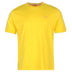Slazenger Tipped férfi kerek nyakú pamut póló sárga 3XL