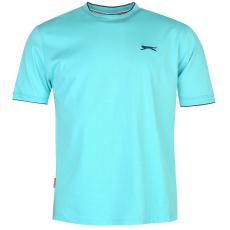 Slazenger Tipped férfi kerek nyakú pamut póló világoskék XL