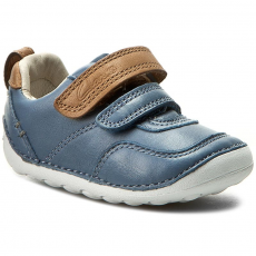 Clarks Félcipő CLARKS - Tiny Aspire 261240156 Denim Blue Leather