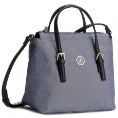 Tommy Hilfiger Táska TOMMY HILFIGER - Modern Nylon Small Tote Chambray AW0AW03797 050