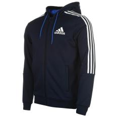 Adidas 3 Stripe férfi kapucnis cipzáras pulóver fehér L