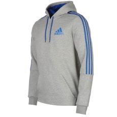 Adidas 3S Logo férfi kapucnis pulóver kék L