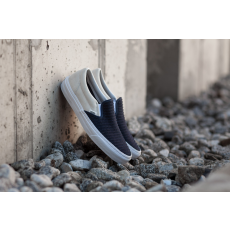 Vans Classic Slip-On (Suede/ Woven) Navy Blue/ True White