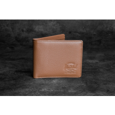 Herschel Supply Co. Hank Leather Wallet Tan Pebbled Leather