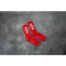 HUF x Thrasher Tour De Stoops Crystal Wash Crew Sock Red