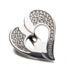 ![CDATA[Shoeclipper]] Glittery Love Silver