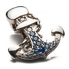 Shoeclipper Anchored Rhinestone Silver