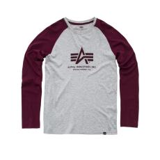 Alpha Industries Basic T LS - burgundy hosszú ujjú póló