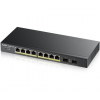 ZyXEL NET ZYXEL GS1900-8HP 8-port + 2xSFP Gigabit Web Smart Switch