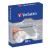 Verbatim CD/DVD boríték, papír, ablakos, öntapadó füllel, VERBATIM, fehér (50db/csom) V49992