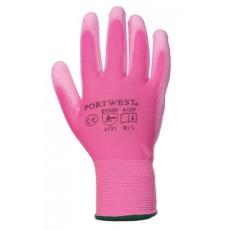 Portwest A120 Nylon PU tenyérmártott kesztyű (Pink, L)