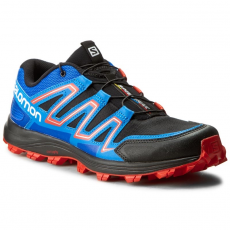 Salomon Cipők SALOMON - Speedtrak 390623 27 W0 Black/Blue Yonder/Lava Orange