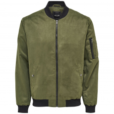 Only and Sons Faux Suede férfi bomber dzseki keki M