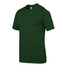 GILDAN Környakas Gildan prémium pamut póló, forestgreen