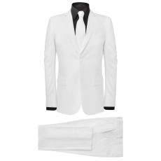 két darabos férfi öltöny nyakkendővel méret 48 fehér