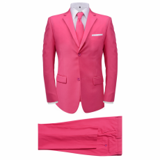 két darabos férfi öltöny nyakkendővel méret 52 rózsaszín