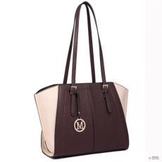 Gant Miss Lulu London LT6614-női Designer Inspire kézi táska denevér stílus hosszú fogantyú bevásárló táska válltáska táska kávé