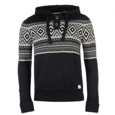 SoulCal Fair Isle Knitted Hoody Mens