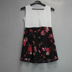 Fehér-virágos vintage ruha - Egy méret