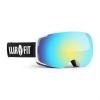 KLARFIT Snow View 2, fehér, síszemüveg, snowboard szemüveg, REVO réteg