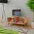 fa TV állvány 90x39x38,5 cm barna