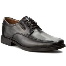Clarks Félcipő CLARKS - Tilden Walk 261103107 Black Leather