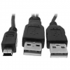 OEM 2x USB A-&gt, MINI 5-pólusú, Y teljesítmény, 0,6 m