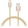 Connect IT Wirez Premium metál micro USB egy méter arany