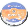 Verbatim DVD-R 16x, 10ks cakebox