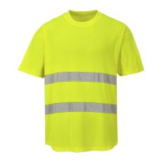 C394 - Hálós póló - Sárga (XXL)