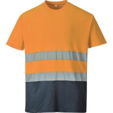 S173 - Kéttónusú Pamut komfort póló - Narancs (XXXL)