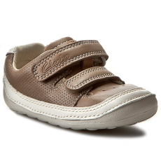 Clarks Félcipő CLARKS - Tiny Boy 261240246 Mushroom Leather