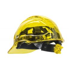 PV60 - Peak View Plus gyorsbeállítós, átlátszó védősisak, szellőző - sárga