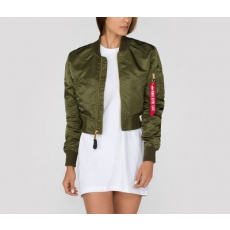 Alpha Industries MA-1 PM CROPPED NŐI - dark green