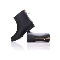 Dorko gumicsizma Black Color Ankle Boot With Zipper, női, fekete, gumi, 41
