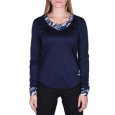 Le Coq Sportif hosszúujjú felső Mazulon n°3 Tee LS W, női, kék, pamut, L