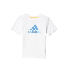 Adidas PERFORMANCE rövidujjú felső LK ESS Logo Tee, fiú, fehér, pamut, 116