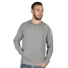 EmporioArmani belebújós pulóver Men's Knit Sweatshirt, férfi, szürke, pamut, L